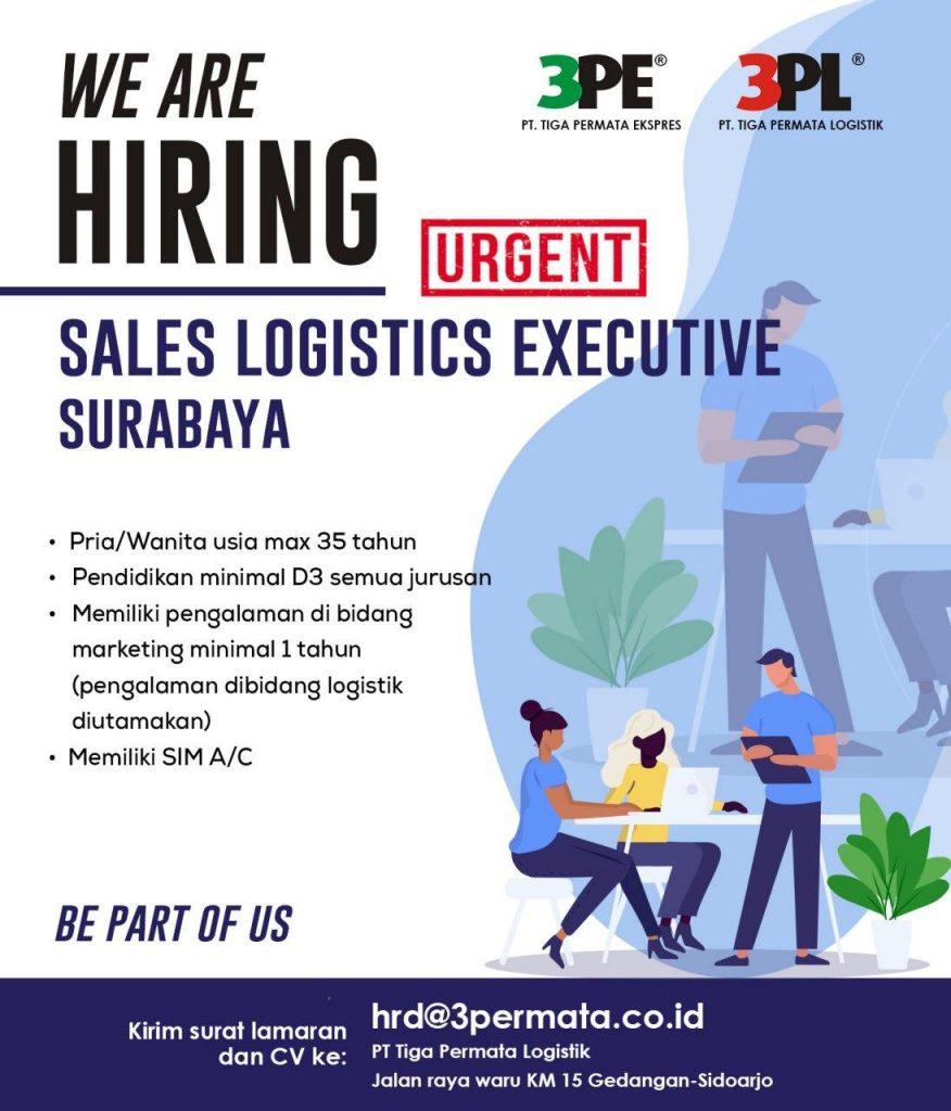 Loker Surabaya Sales Logistics Executive 3PL